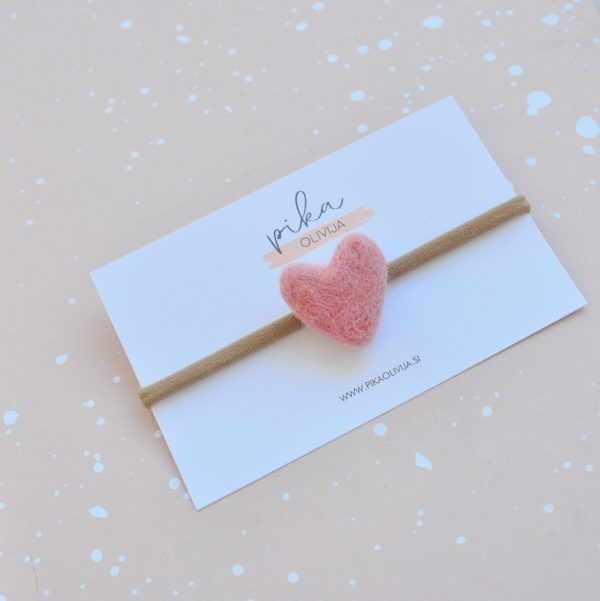 dusty rose heart