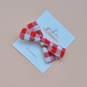 classic gingham red