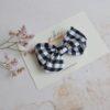 monochrome gingham clip